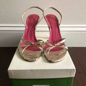 Kate Spade Lyla Shoes in Gold  Size 9